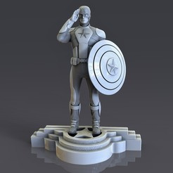 2.jpg Download STL file Captain America Base 017 • 3D printer model, lilia3dprint