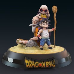 1.jpg Download STL file Kame Sennin Dragon Ball • Object to 3D print, lilia3dprint