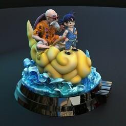 3.jpg Télécharger fichier STL Le Dragon Ball volant des nuages • Plan imprimable en 3D, lilia3dprint