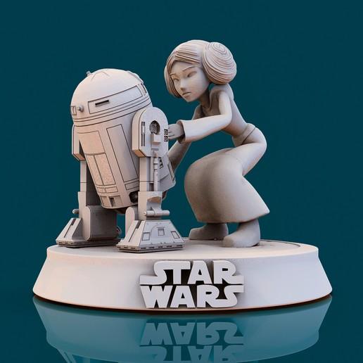 Download 3D printing files Star Wars Leia002, lilia3dprint