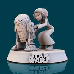 Télécharger plan imprimante 3D Star Wars Leia002, lilia3dprint