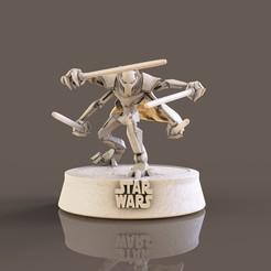 1.jpg Descargar archivo STL General Grievous Star Wars • Plan de la impresora 3D, lilia3dprint