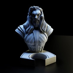 1.jpg Download STL file aquaman bust • 3D printable object, lilia3dprint