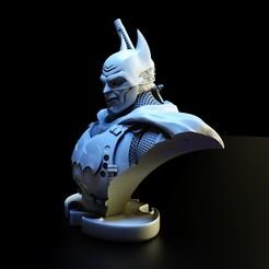 Download 3D printing templates Batman Bust 12, lilia3dprint