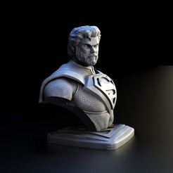 2.jpg Download STL file Suoerman Bust • 3D printable design, lilia3dprint