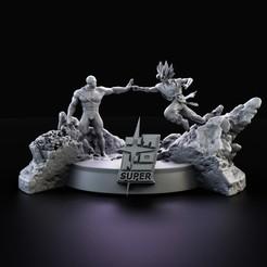 Descargar modelos 3D para imprimir DBZ Super Goku Base 017, lilia3dprint