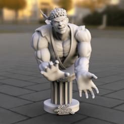 Télécharger fichier imprimante 3D gratuit Combattant de rue sur piédestal 021, lilia3dprint