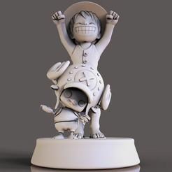 4.jpg Descargar archivo STL Monkey D. Luffy  • Plan para imprimir en 3D, lilia3dprint