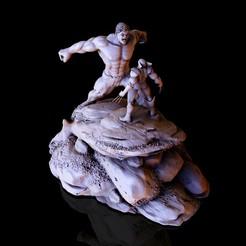 11.jpg Descargar archivo STL Hulk   Wolverine  base 011 • Objeto para impresión 3D, lilia3dprint
