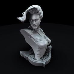 untitled.1204.jpg Download STL file captain marvel bust • 3D printable template, lilia3dprint