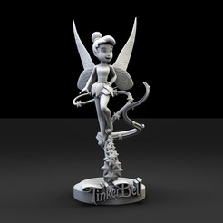 campanilla.1114.jpg Download STL file Tinkerbell Base 044 • 3D printer template, lilia3dprint