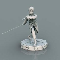 1.jpg Télécharger fichier STL Sasuke Uchiha 11 • Modèle pour impression 3D, lilia3dprint