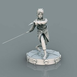 1.jpg Descargar archivo STL Sasuke Uchiha 11 • Modelo para la impresión en 3D, lilia3dprint