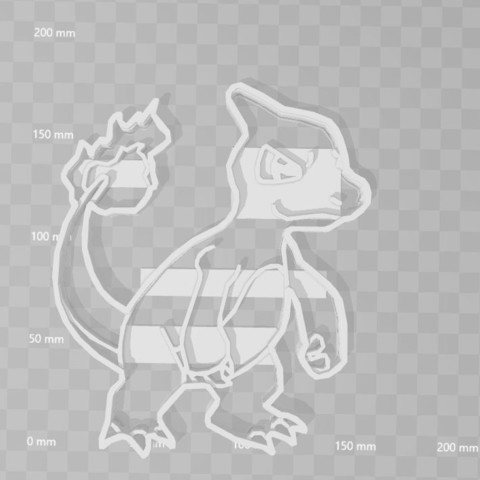 3D print model charmeleeon pokemon cookie cutter, PrintCraft