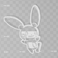Download 3D printer model minum pokemon cookie cutter, PrintCraft