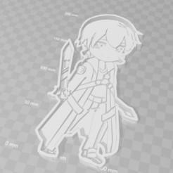 3D printer files kirito sao sword art cookie cutter, PrintCraft