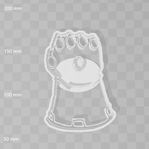 STL Infinity gauntlet avengers cookie cutter, PrintCraft
