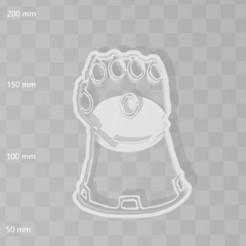 Descargar archivos STL Infinity gauntlet avengers cookie cutter, PrintCraft