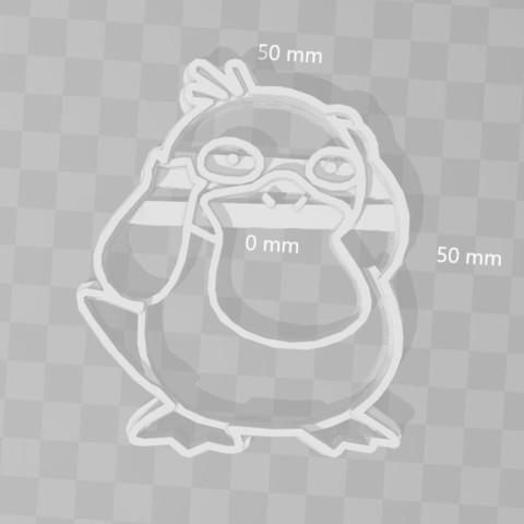 3D print model psyduck pokemon cookie cutter, PrintCraft