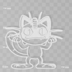 3D print files meowth pokemon cookie cutter, PrintCraft