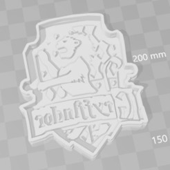 3D printer models Gryffindor Harry potter cookie cutter, PrintCraft