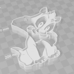 Download 3D printing files Baby Sylvester Wild Cookie Cutter, PrintCraft