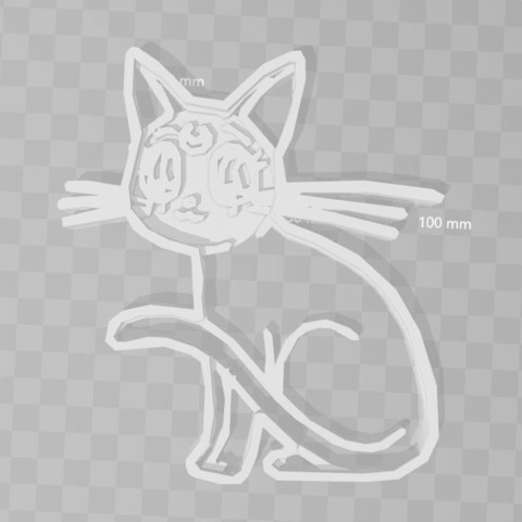 3D print model moon sailor moon cat cookie cutter, PrintCraft