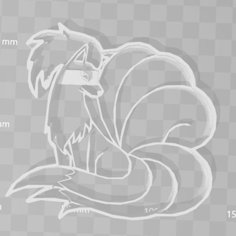 STL file ninetails pokemon cookie cutter, PrintCraft