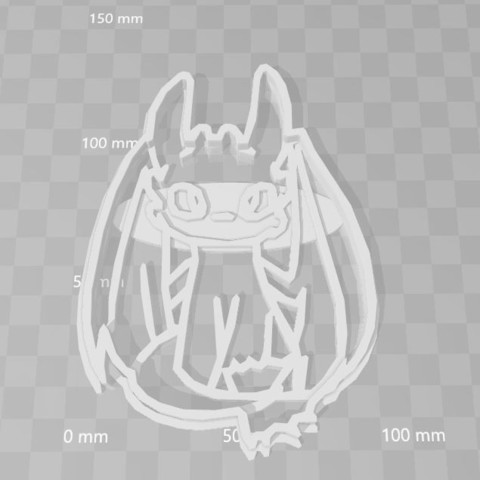 Download STL toothless dragon cookie cutter, PrintCraft