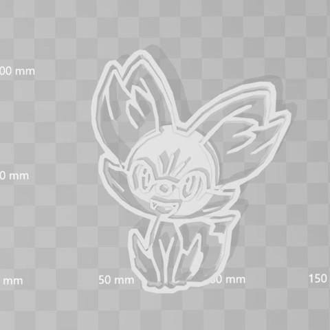 STL fenekin pokemon cookie cutter, PrintCraft