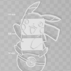 Download STL files pikachu pokeball pokemon cookie cutter, PrintCraft