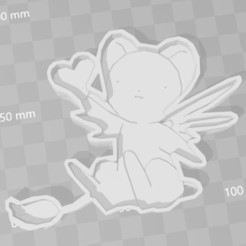 3D printer files card captor sakura kero cookie cutter, PrintCraft