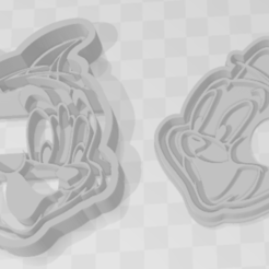 Download 3D printer templates Tom and Jerry - Cookie Cutter, PrintCraft