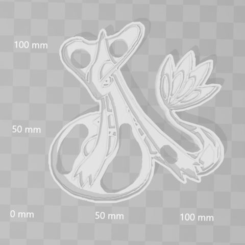 Download 3D printing models Milotic - Pokemon cookie cutter, PrintCraft