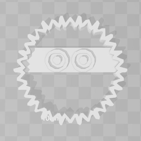 Imprimir en 3D Susuwatari totoro cookie cutter, PrintCraft