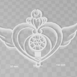 Télécharger objet 3D emporte-pièce en forme de coeur de lune de marin, PrintCraft