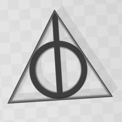 Download 3D printing templates Deadly Hollows - Harry Potter - Cookie Cutter, PrintCraft