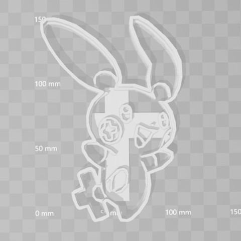 3D printer models plusle pokemon cookie cutter, PrintCraft
