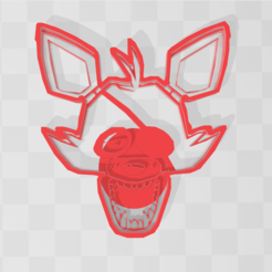 FNAF FOXY (1).PNG Download STL file Foxy Five Nights at Freddy's cookie • Model to 3D print, PrintCraft