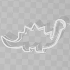 STL diplodocus dianosaur cookie cutter, PrintCraft