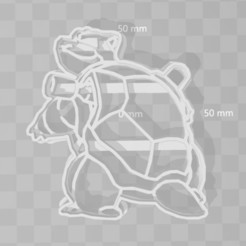 STL files Blastoise pokemon cookie cutter, PrintCraft