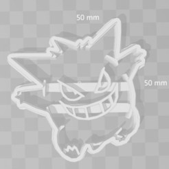 Download 3D printing templates gengar pokemon cookie cutter, PrintCraft
