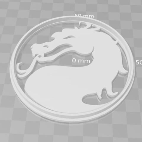 Download 3D printer designs Mortal Kombat logo cookie cutter, PrintCraft