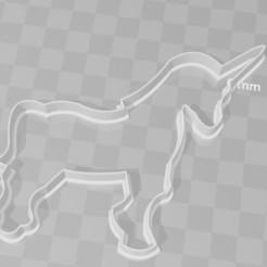 Impresiones 3D Unicorn Cookie Cutter, PrintCraft