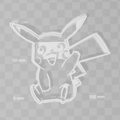 3D printer models pikachu pokemon cookie cutter, PrintCraft