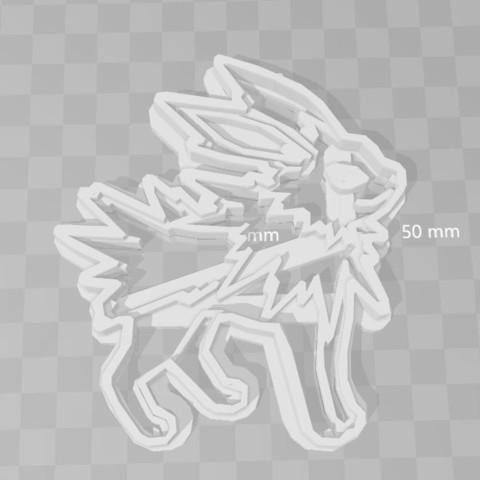 3D print model jolteon pokemon cookie cutter, PrintCraft