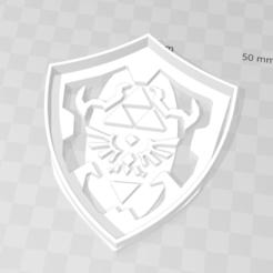 Descargar STL Hylian Shield Zelda cookie cutter, PrintCraft