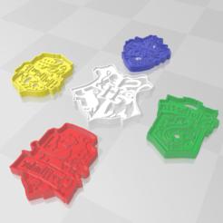 casas hp 2.PNG Download STL file Harry Potter Cookie houses BUNDLE x5 • 3D printer object, PrintCraft