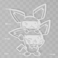 pichus.JPG Download STL file pichu pokemon cookie cutter • 3D printer template, PrintCraft
