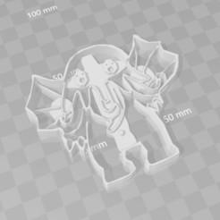 STL file cthullu chibi cookie cutter, PrintCraft